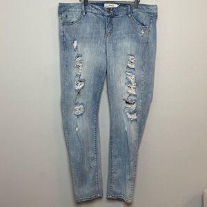 Torrid Distressed High-rise Skinny Jeans